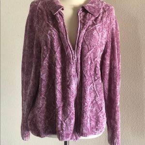 Alfred Dunner zip up sweater